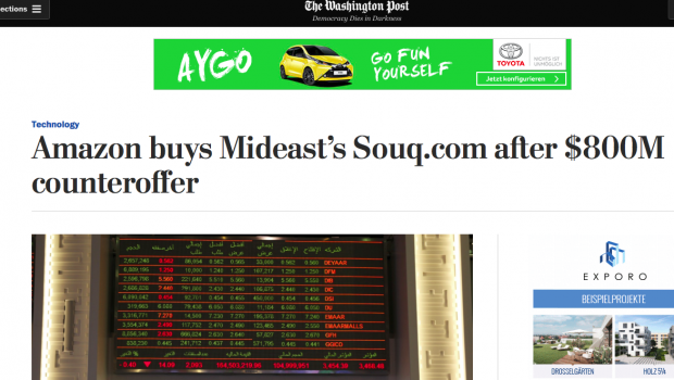 Amazon buys Souq after $800M counteroffer | Saygin Yalcin